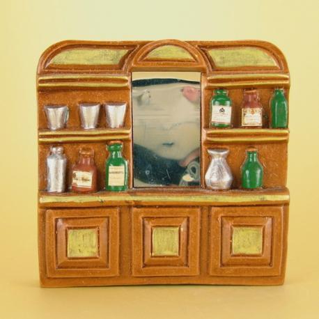 Etagère Comptoir de Bar, accessoire miniature