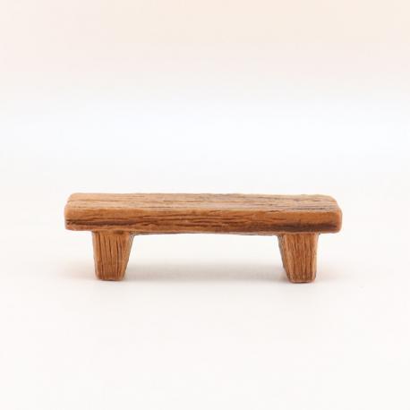 Banc Bois, accessoire miniature