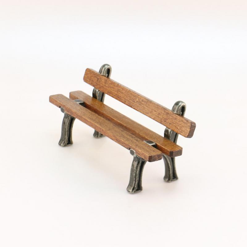 banc bois m tal accessoire miniature santons magali. Black Bedroom Furniture Sets. Home Design Ideas