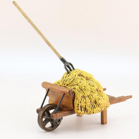 Foin Brouette, accessoire miniature