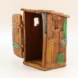 Cagadou Toilette Mur, accessoire miniature