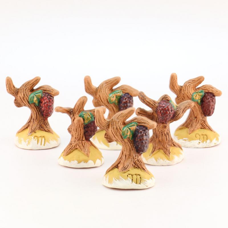 Pied de vigne lot de six accessoire miniature santons for Six accessoires