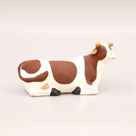 Santon Vache couché marron