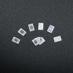 Carte à jouer lot, accessoire miniature