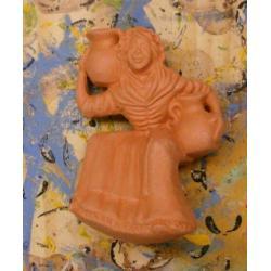 Santon Non Peint Cruches Femme