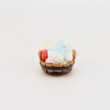 Panier de linge, accessoire miniature