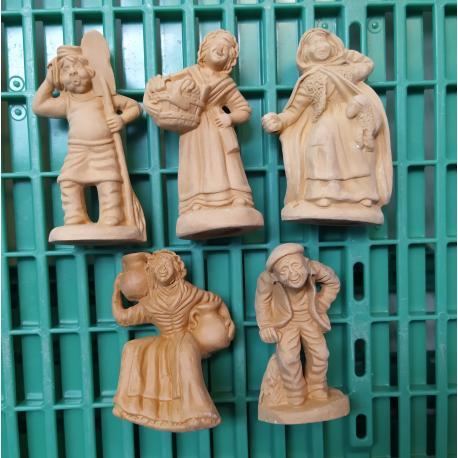 Lot 5 santons NON PEINT DECLASSE