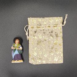Pochette cadeau 2 santons multi couleurs