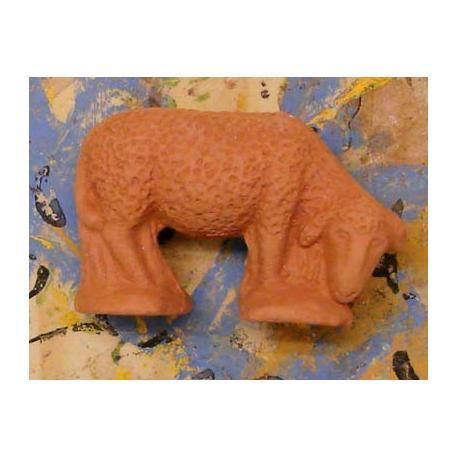 Santon Non Peint Mouton Broutant