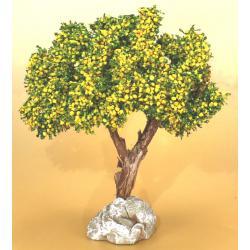 Arbre Mimosa 12cm, accessoire miniature