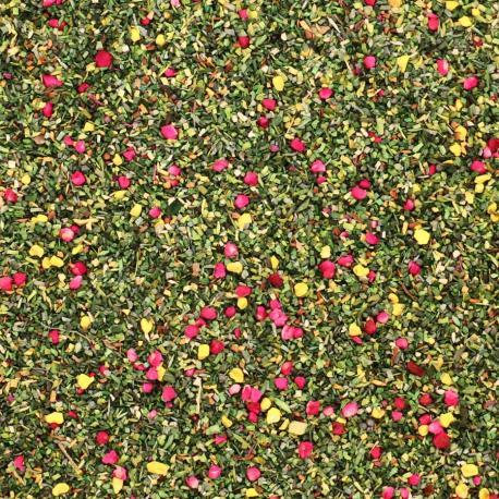 Verdure décor vert, mauve, jaune 1mm