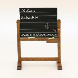 Tableau d'école, accessoire miniature