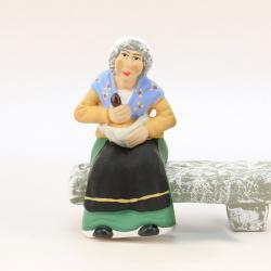 Santon Banc Femme Assise