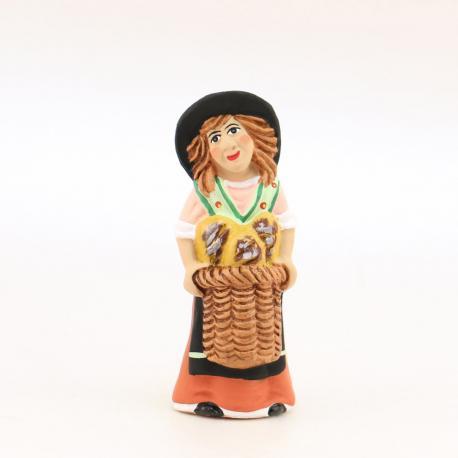 Santon enfant fille au pain