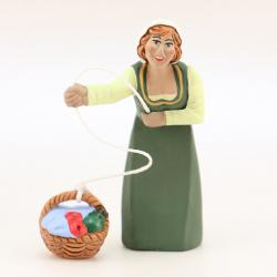 Santon Fenêtre femme au panier