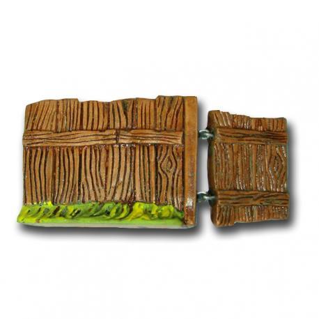 Barrière avec portillon, accessoire miniature