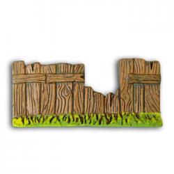 Barrière cassée, accessoire miniature